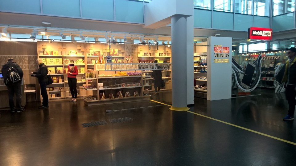 There are dozens of shops at Vilnius Airport