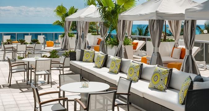 Hilton Cabana Miami Beach Upper Pool Cabanas