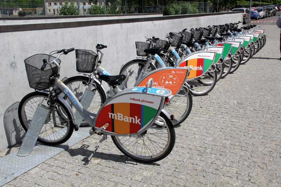 The new city bikes are modern and easy to use