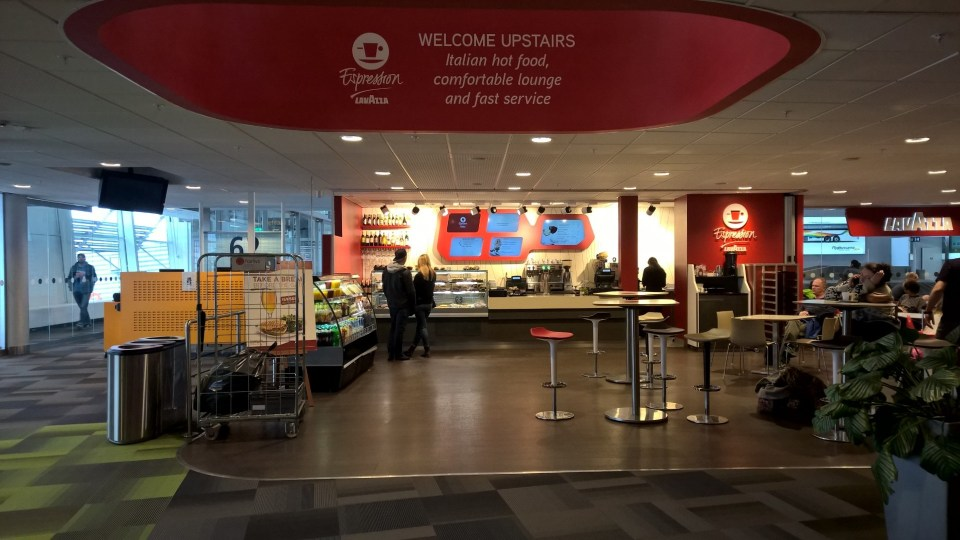 There are dozens of shops and restaurants at Stockholm Arlanda Airport