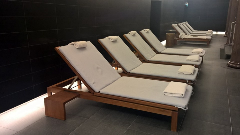 Great for relaxing: Loungers in the Spa