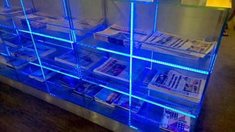 BA Galleries Lounge South London Heathrow Newspapers