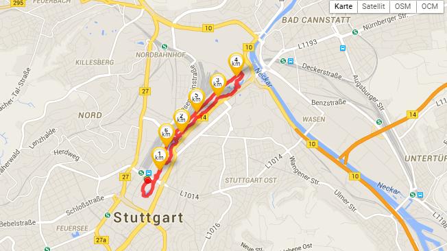 Running in Stuttgart
