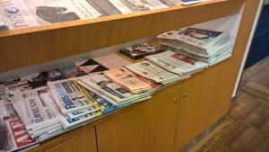 Lufthansa Senator Lounge Frankfurt Newspapers