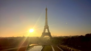 Running in Paris Eiffel Tower