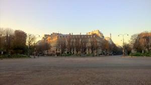 Running in Paris Champs Elysees