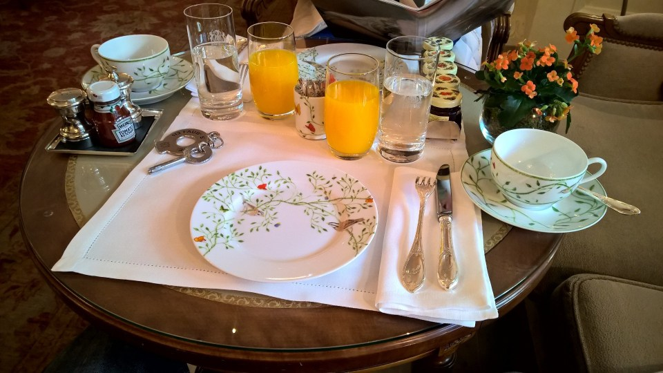 Le Bristol Paris Breakfast