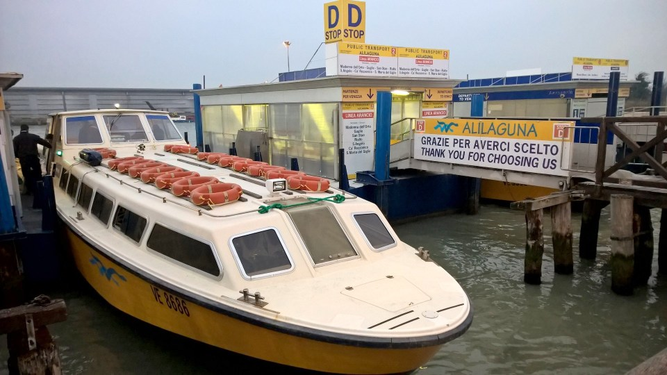 Venice Marco Polo Airport Waterbus