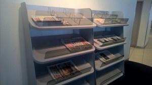 Lufthansa Business Lounge Berlin Newspapers