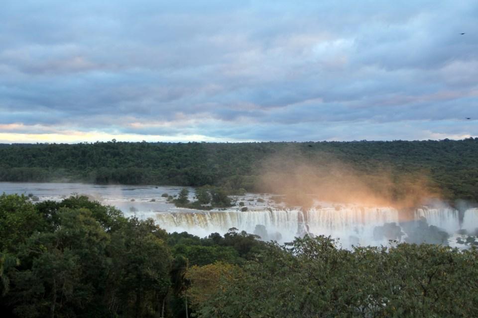 Sunset Iguazu Falls Brazil