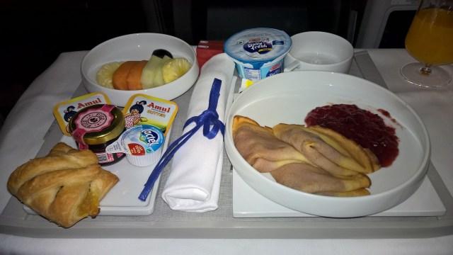 Air France Business Class Breakfast