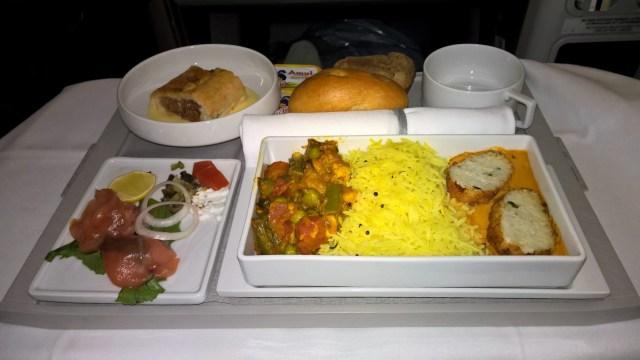 Air France Business Class Dinner