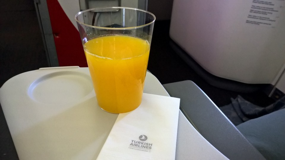 Turkish Airlines Economy Class Drink
