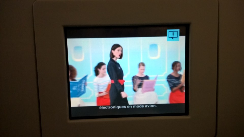 Air France Business Class Safety Video