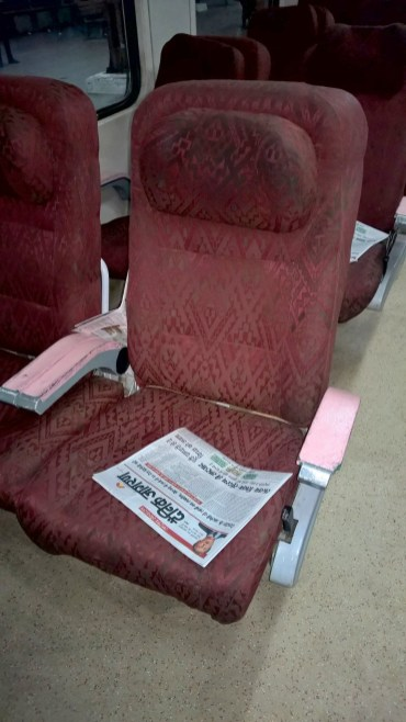 Shatabdi Express First Class Seating