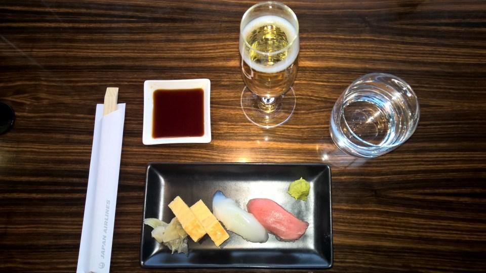 Sushi JAL First Class Lounge Tokyo Narita