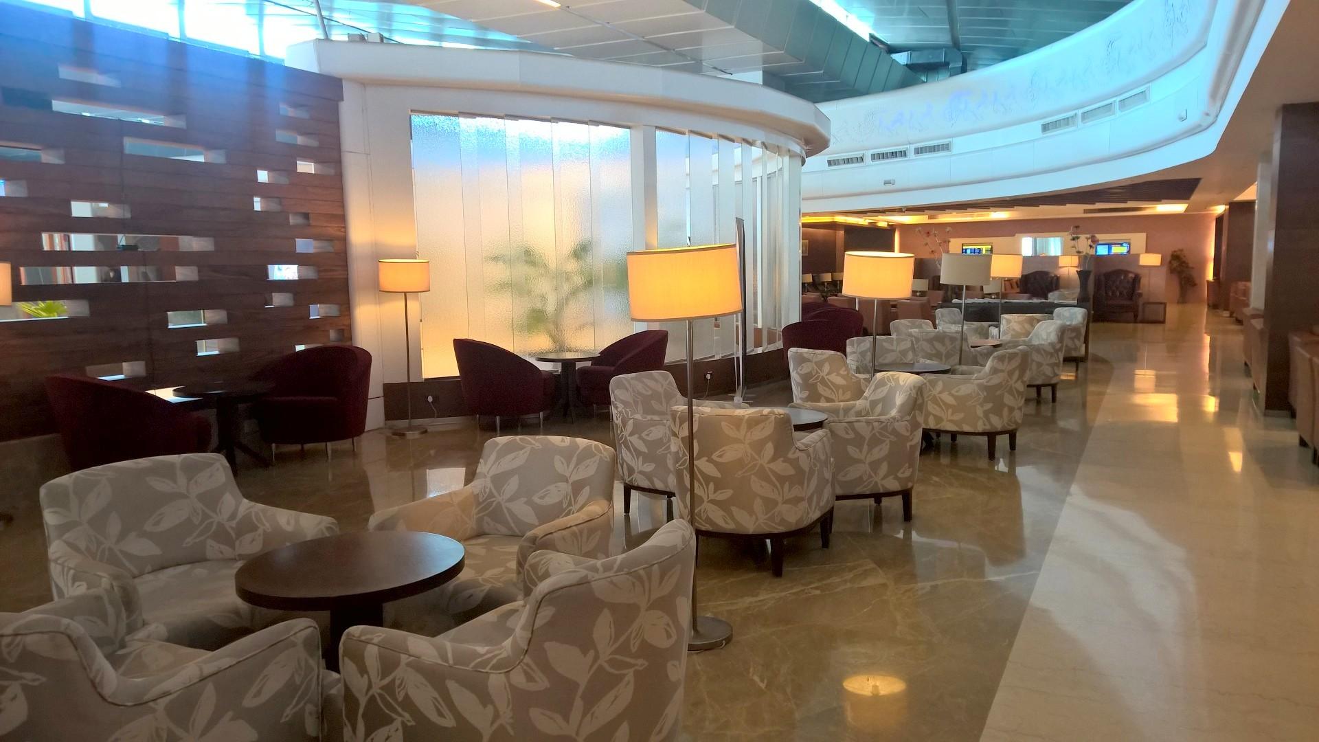 Air India Lounge Delhi Seating