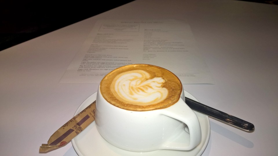 Qantas First Class Lounge Los Angeles Cappuccino