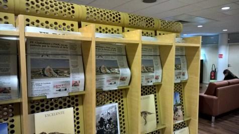 Iberia Lounge Paris Orly Newspapers