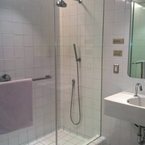 Qantas First Class Lounge Los Angeles Shower