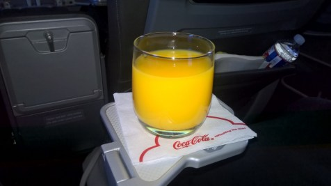 American Airlines regional First Class Drink