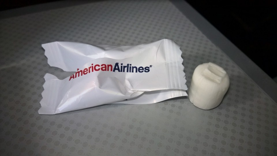American Airlines regional First Class Snack