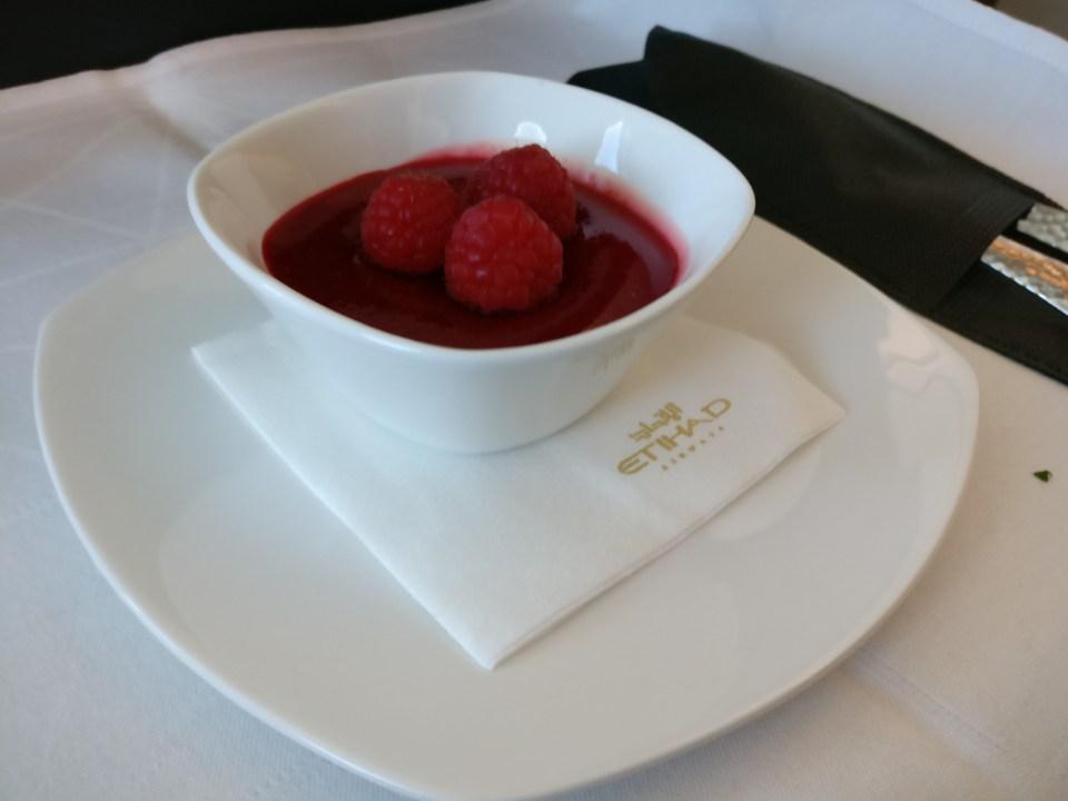 Etihad Airways Boeing 787 Business Class Lunch