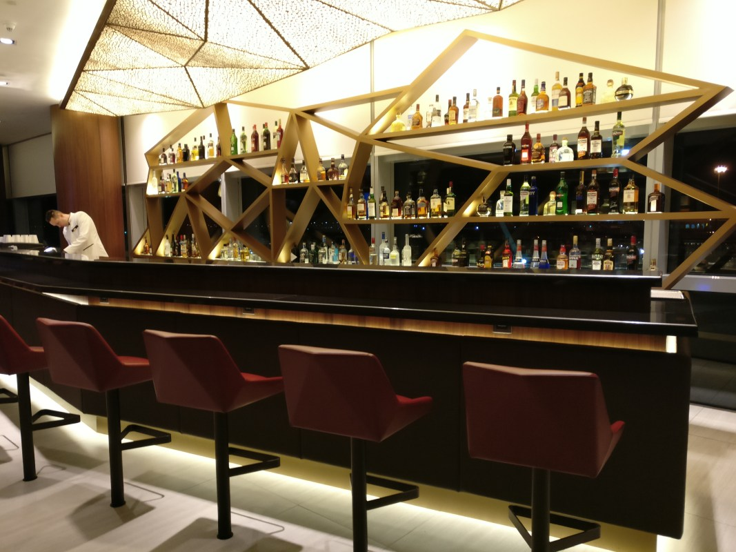 Etihad Airways First Class Lounge Abu Dhabi Bar