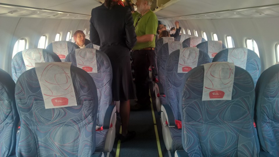 Seating in the Czech Airlines ATR 42