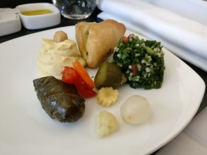 Etihad Airways Business Class Boeing 787 Lunch