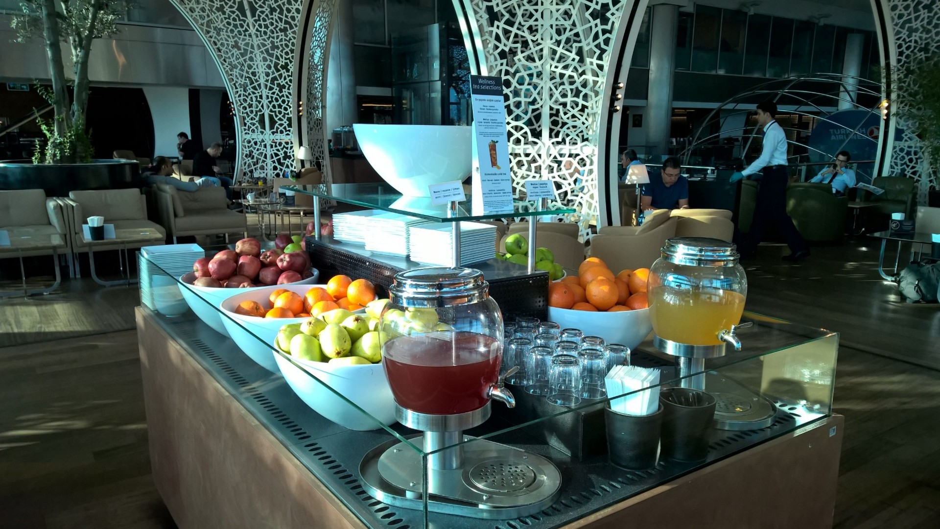 Turkish Airlines Lounge Istanbul Buffet
