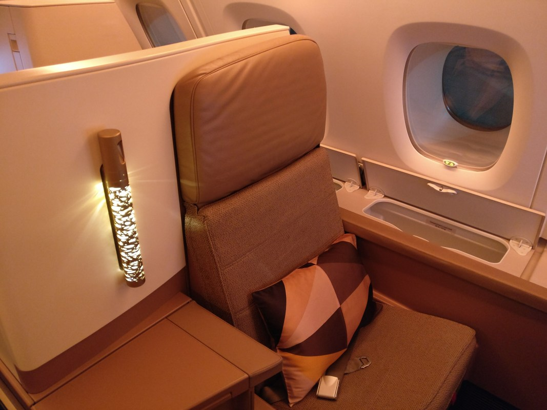 Etihad Airways Business Class Airbus A380 Seat