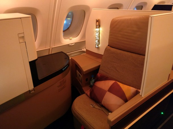 Etihad Airways Business Class Airbus A380 Seat