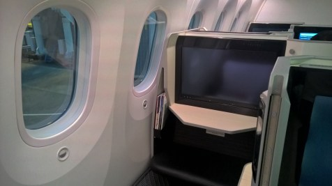 Japan Airlines Business Class Seat