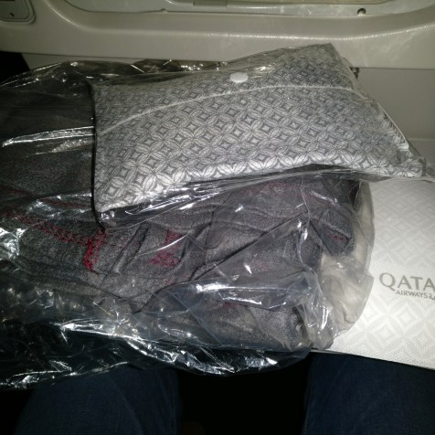 Qatar Airways Economy Class Boeing 777 Amenities