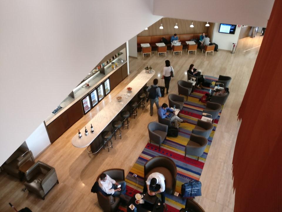 LATAM Lounge Santiago Seating
