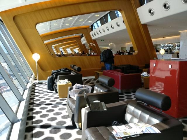 Qantas First Class Lounge Sydney Seating