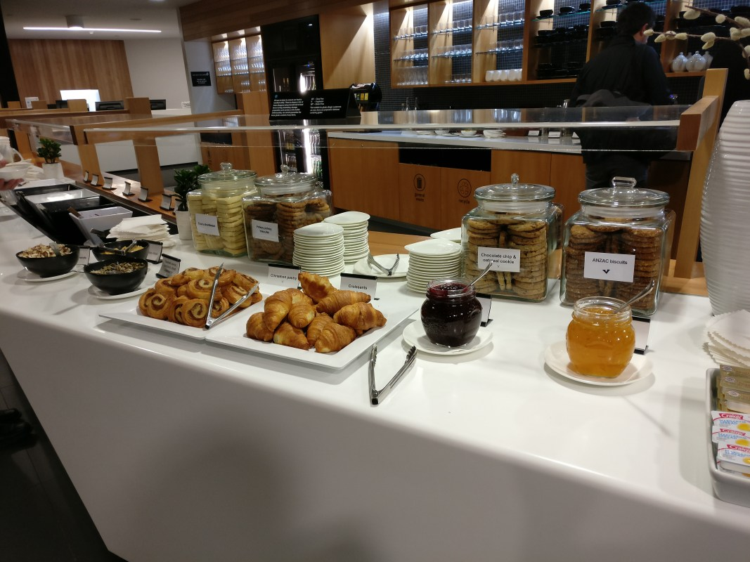 Air New Zealand Koru Lounge Christchurch Buffet