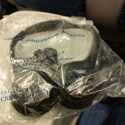 Philippine Airlines regional Business Class Headphones
