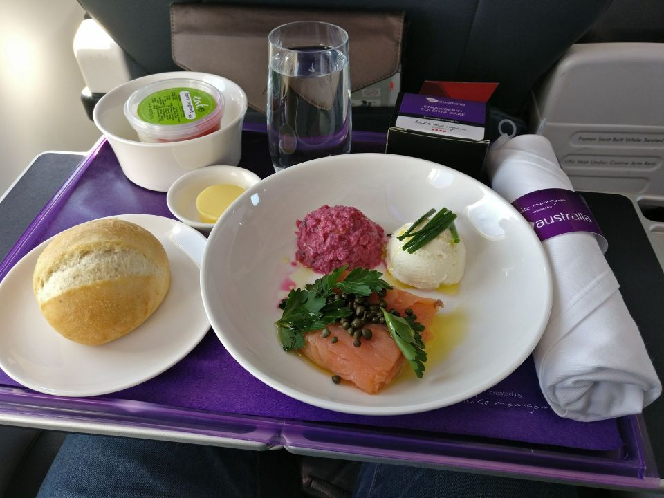 Virgin Australia Domestic Business Class Meal