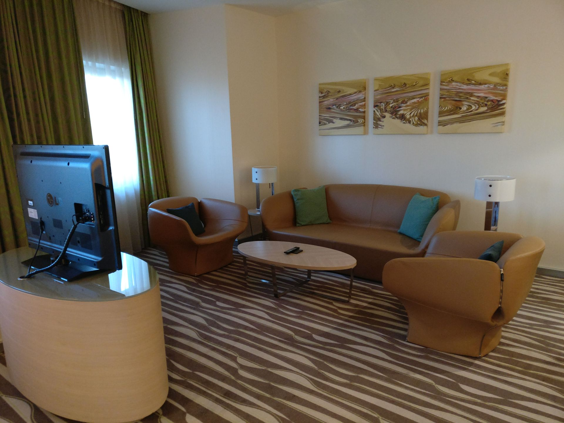 Hilton Frankfurt Airport Executive Suite Living Room