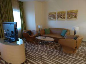Hilton Frankfurt Airport Executive Suite Living Room