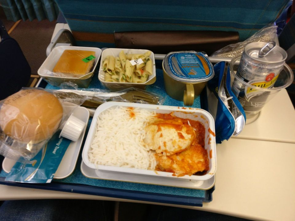 Oman Air Economy Class Airbus A330 Dinner