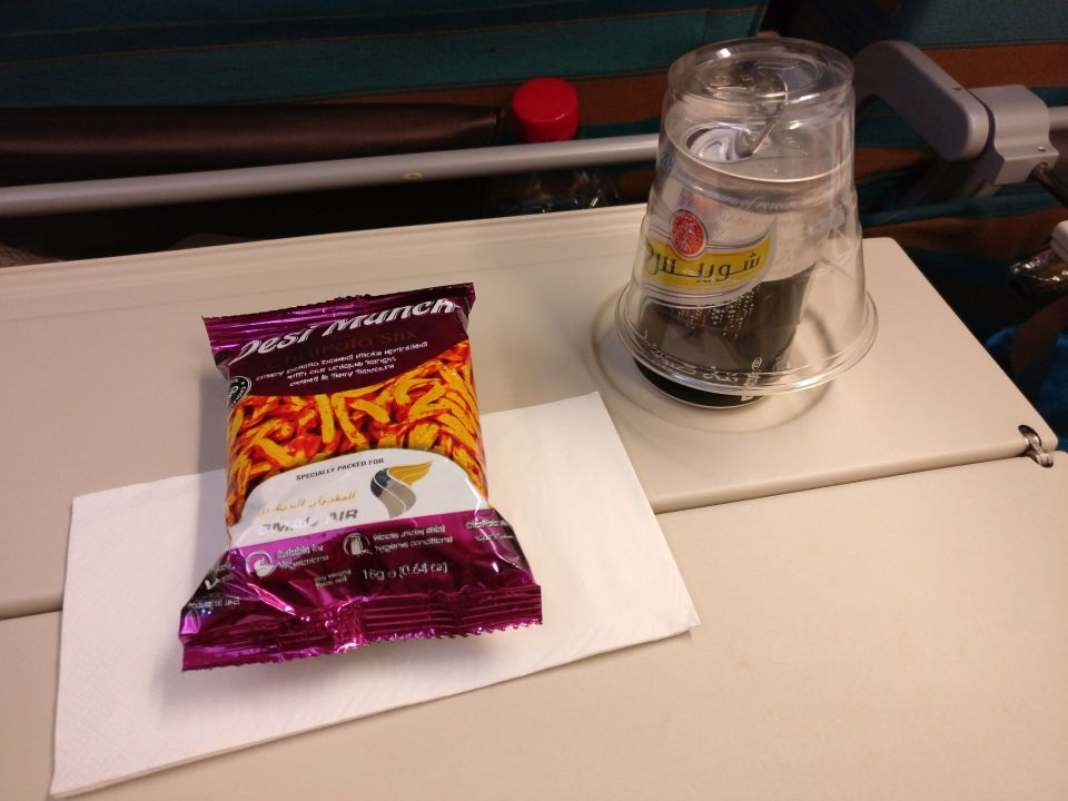 Oman Air Economy Class Airbus A330 Snack