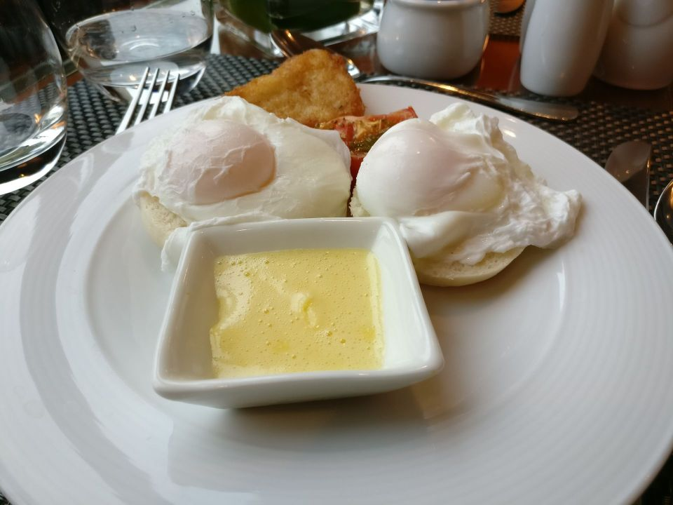 Hilton Hanoi Opera Club Breakfast Eggs