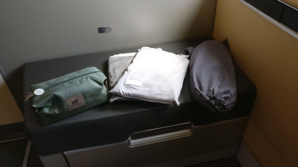 Lufthansa First Class Amenities