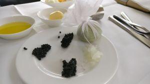 Lufthansa First Class Caviar