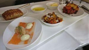 Lufthansa First Class Lunch