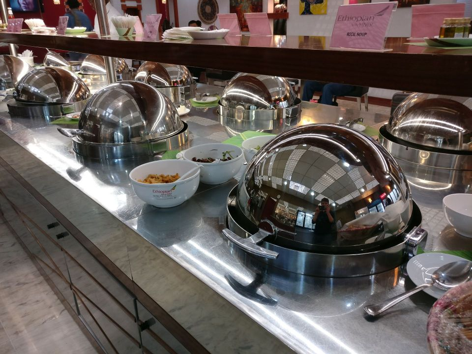 Ethiopian Airlines Cloud 9 Lounge Addis Ababa Buffet