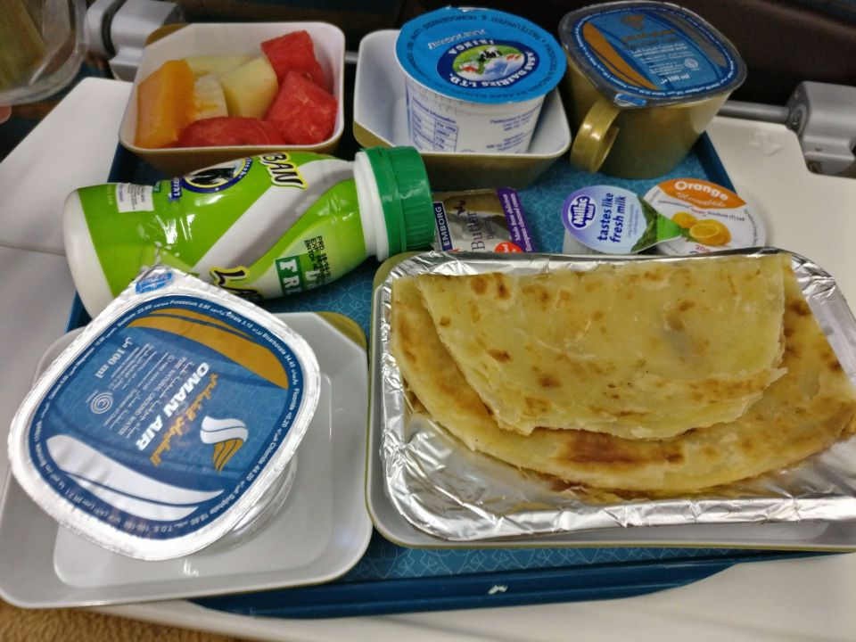 Oman Air Economy Class Breakfast